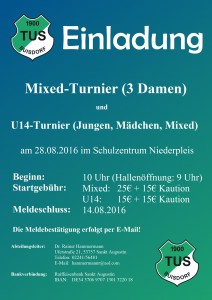 2016 Turniereinladung TuS Buisdorf - Mixed + U14
